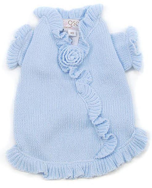 Rose'n Ruffles Dog Sweater