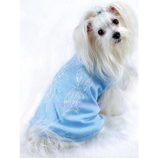 Angel Wings Dog Tee - Blue