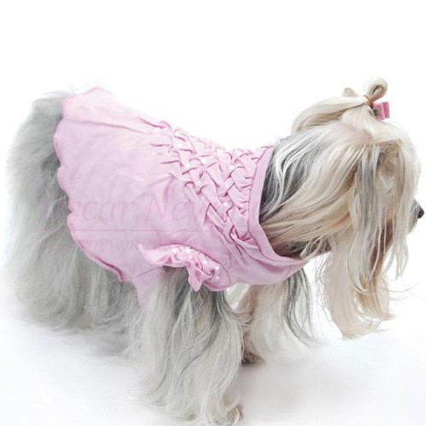 Think in Pink Hand-Smocked Dog Tee