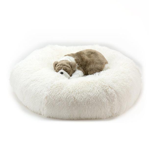 Cream Shag Dog Bed