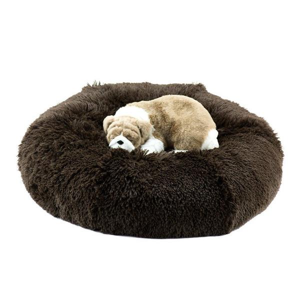 Chocolate Shag Dog Bed