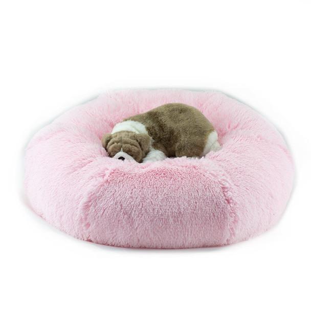 Puppy Pink Shag Dog Bed
