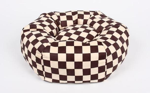 Windsor Check Round Dog Bed