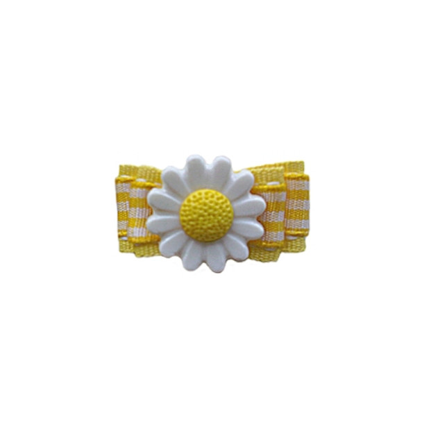 Yellow Daisy Barrette by Ruff Ruff Couture