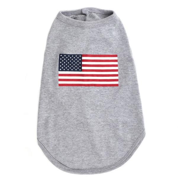 American Flag Pet Dog T-Shirt - Small - Big Dog