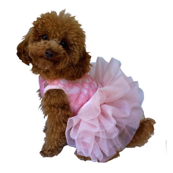 Fufu Tutu Dog Dress - Pink