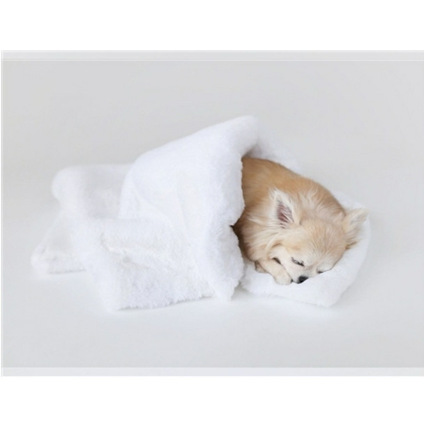 Divine Pet Dog Blanket or Throw - White