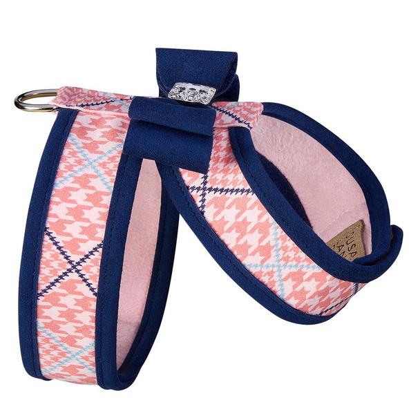 Peaches N Cream W/Trim & Big Bow w/Indigo Trim  Tinkie Harness