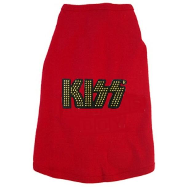 The Band KISS Gold Logo Dog Tees