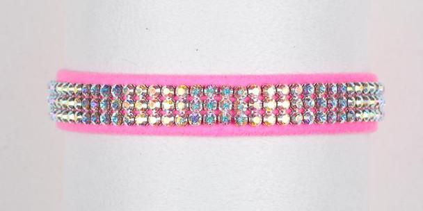 Aurora Borealis Crystal 3 Row Collars