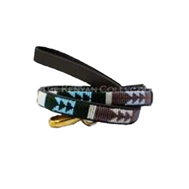 Jacaranda African Beaded Dog Leash