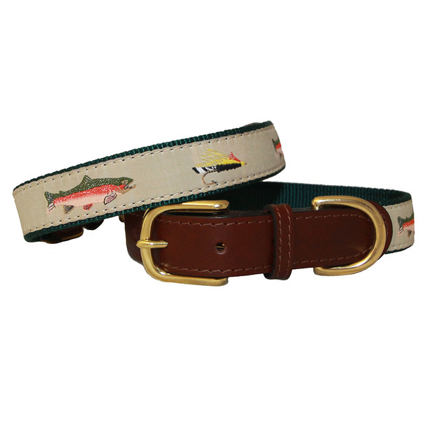 American Traditions Dog Collar - Fly Fishing
