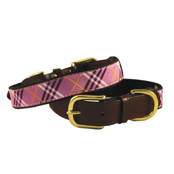 American Traditions Dog Collar - Lavender Lattice