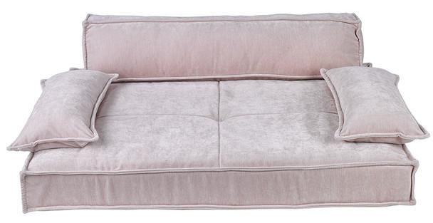 Scandinave Pet Dog Sofa Bed - Blush Microvelvet