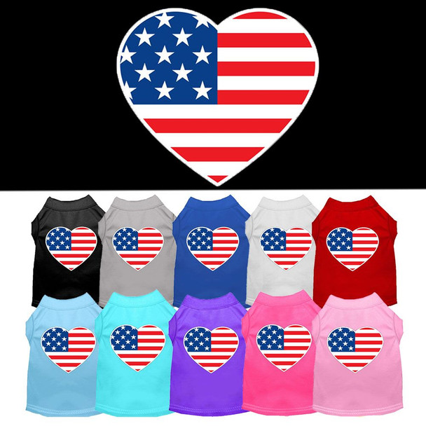 American Flag Heart Dog Tank