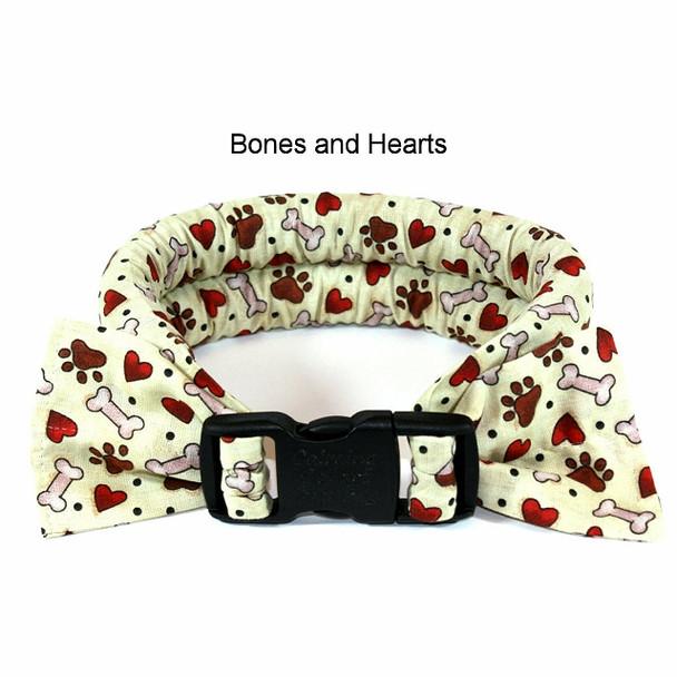 Too Cool Cooling Dog Collars -Bones & Hearts