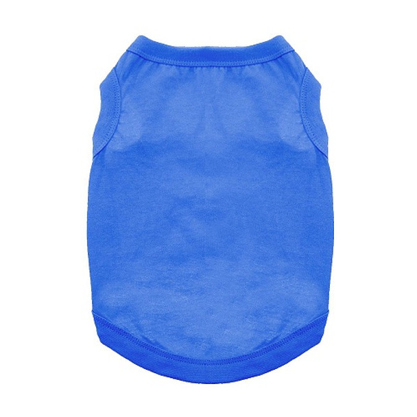 100% Plain Cotton Dog Tanks - Nautical Blue - Tiny - Big Dog Sizes