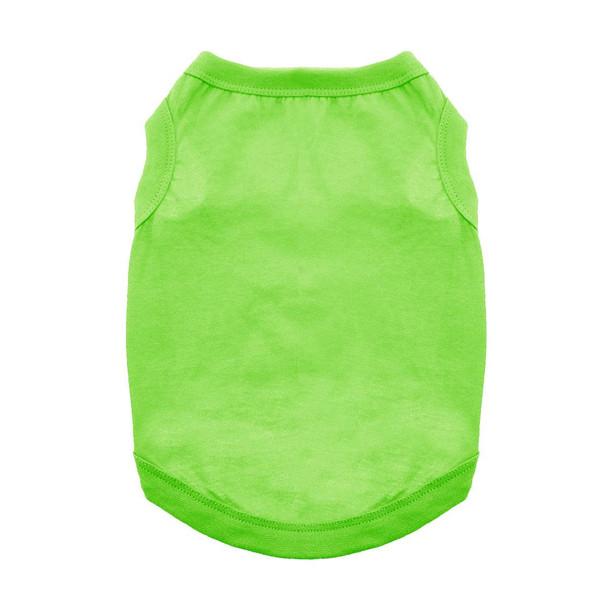 100% Plain Cotton Dog Tanks - Green Flash - Tiny - Big Dog Sizes