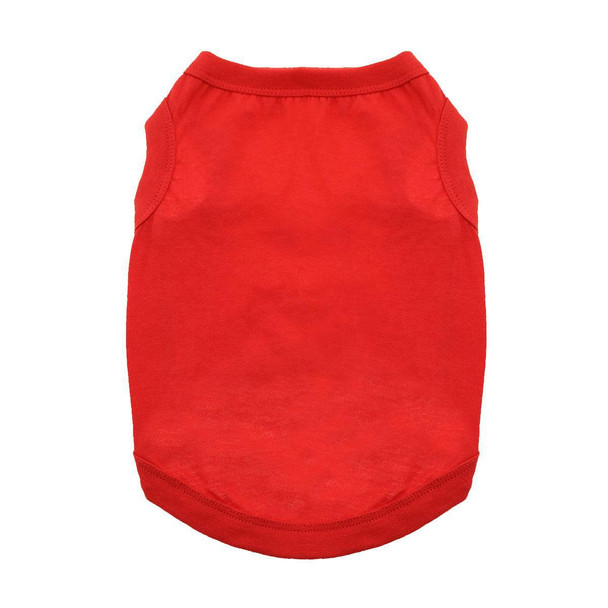 100% Plain Cotton Dog Tanks - Flame Scarlet Red - Tiny - Big Dog Sizes
