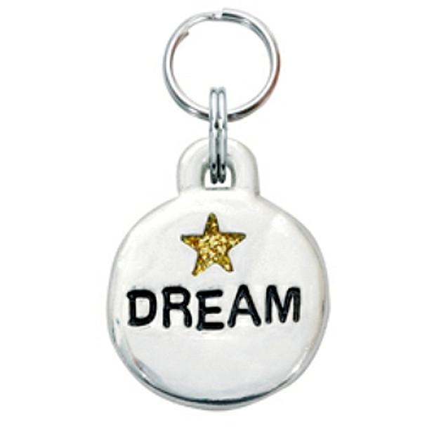 Pewter Engravable Pet ID Tag - Dream & Star