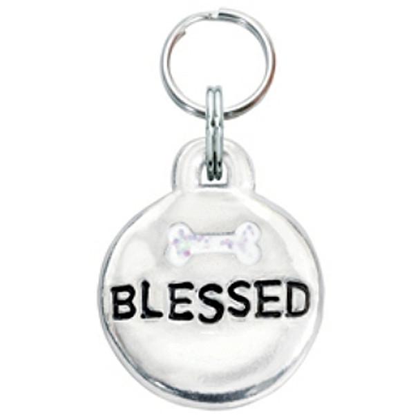 Pewter Engravable Pet ID Tag - Blessed & Bone