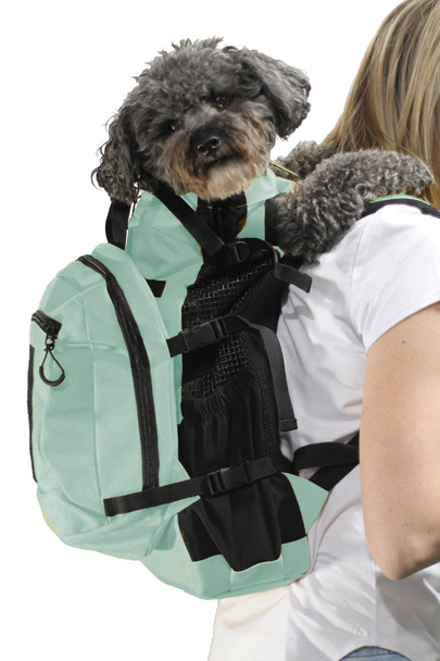 Air Plus Pet Backpack Carrier - Mint - Pets Up to 40 lbs