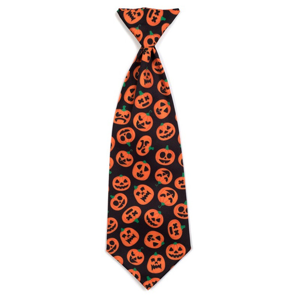 Jack-O-Lantern Pet Dog Neck Tie