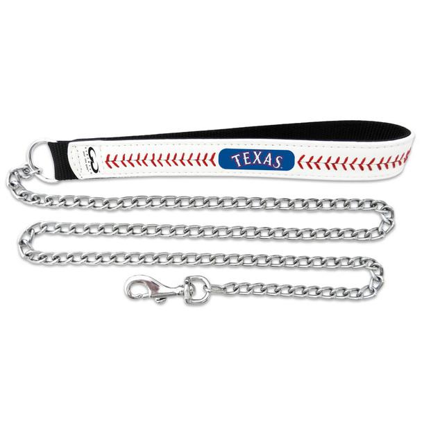 Texas Rangers Leather Baseball Seam Leash