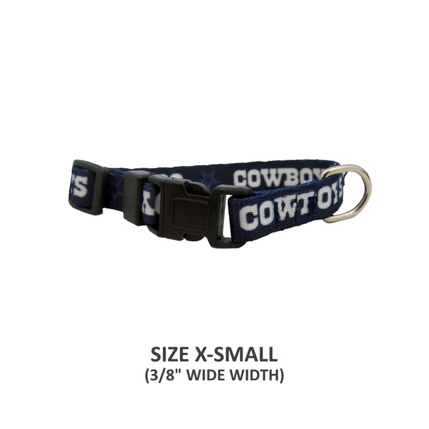 Dallas Cowboys Pet Nylon Collar - Small
