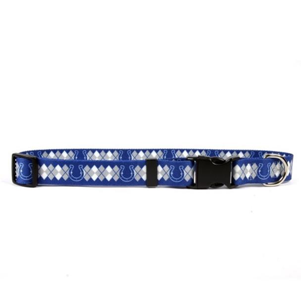 Indianapolis Colts Argyle Nylon Collar
