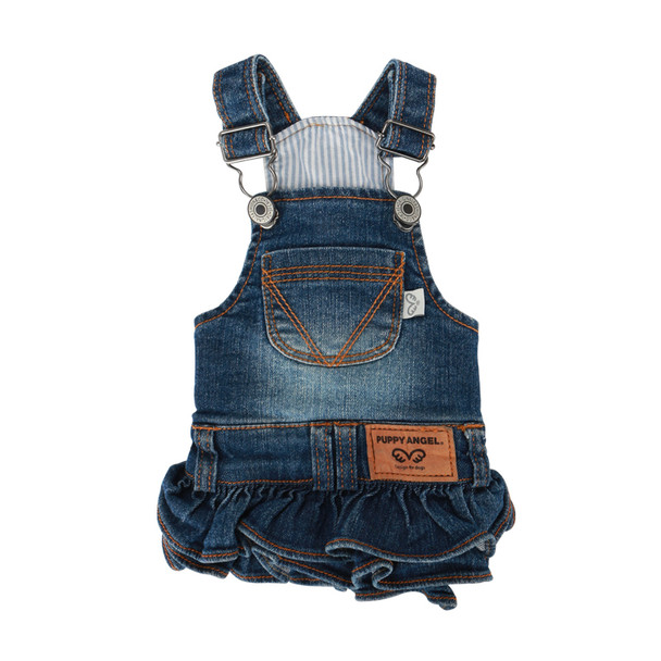 Puppy Angel Ohkio Denim Suspenders cancan skirt - Blue