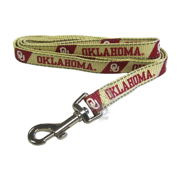Oklahoma Sooners Pet Reflective Nylon Leash