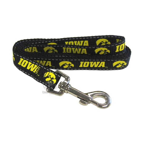 Iowa Hawkeyes Pet Reflective Nylon Leash