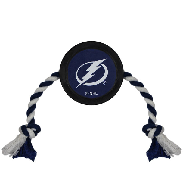 Tampa Bay Lightning Pet Hockey Puck Rope Toy