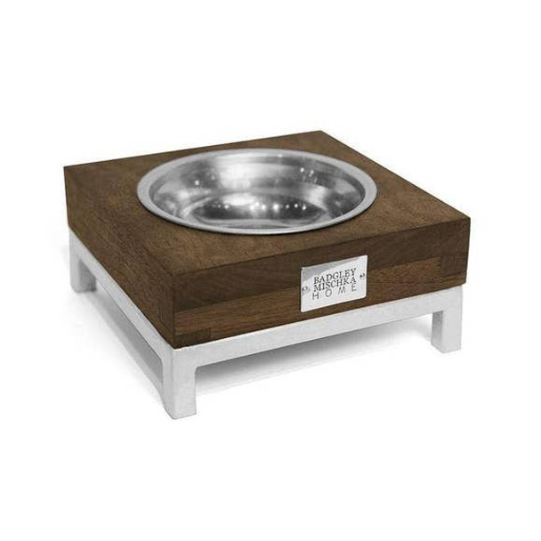 Designer Small Rommel Pet Bowl - Silver