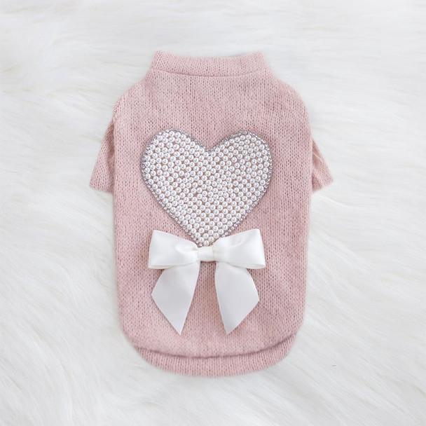 Pearl Heart Dog Sweater