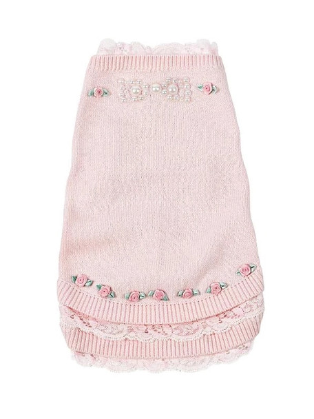 Pearls and Roses Dog Sweater