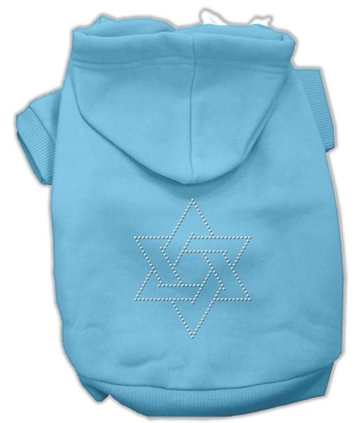 Star Of David Hoodies Baby Blue
