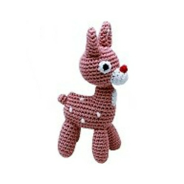 Rudy the Reindeer Organic Cotton Crocheted Dog Toys