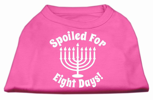 Spoiled for 8 Days Screen Print Shirt - Bright Pink
