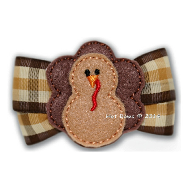 Giblets and Gravy Dog Bow Barrette - Larger Dogs