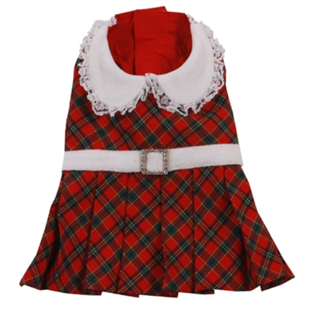Savannah Red Plaid Dog Dress