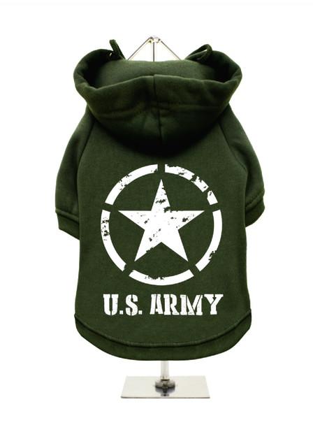 U.S. Army Fleece-Lined Dog Hoodie / Sweatshirt