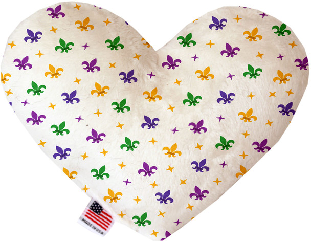 Confetti Fleur De Lis Mardi Gras Heart Dog Toy, 2 Sizes