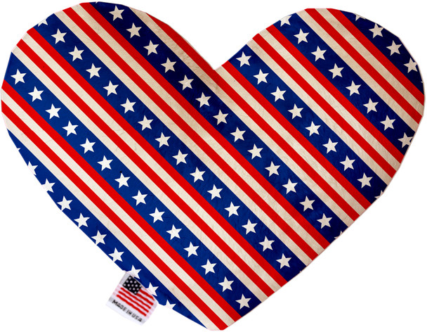 Stars And Stripes Heart Dog Toy, 2 Sizes