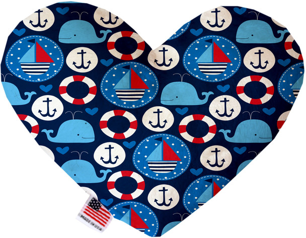 Anchors Away Heart Dog Toy, 2 Sizes