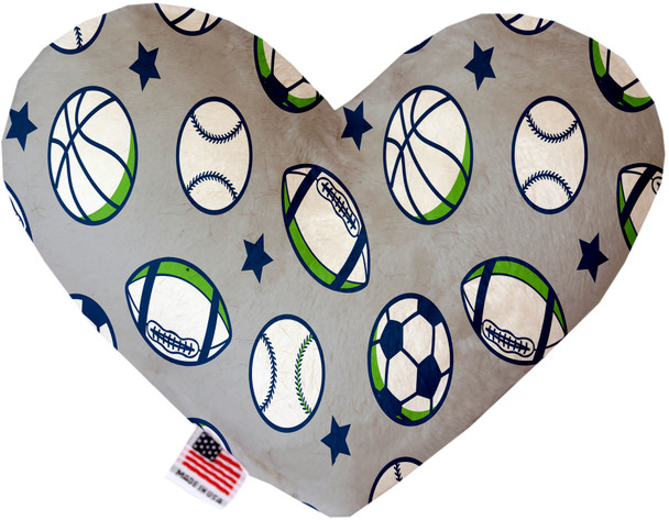 Sports And Stars Heart Dog Toy, 2 Sizes