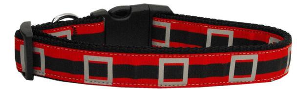 Santa's Belt Nylon Dog Collar - Medium Narrow