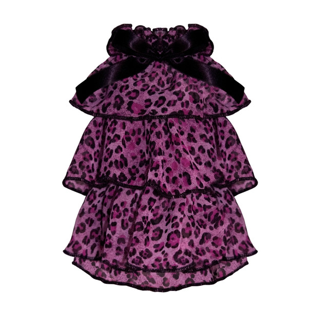 Puppy Angel Kay Luxury Leopard Cancan Dress - Pink