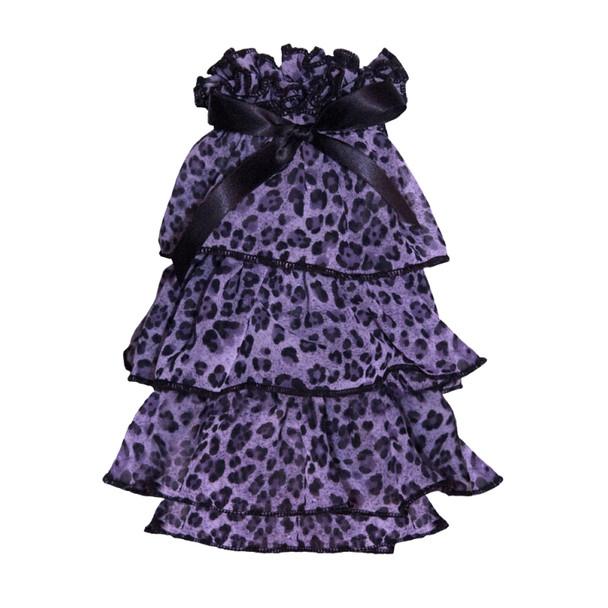Puppy Angel Kay Luxury Leopard Cancan Dress - Purple